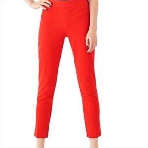 Kate Spade Saturday Red Crop Capri Casual Pants 6